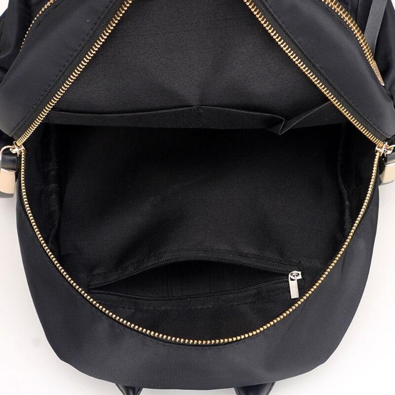 Women Waterproof Nylon Backpack Mini Student Younger Bakcpack Zipper Design