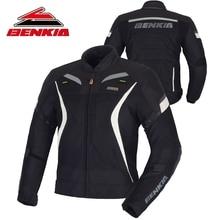 BENKIA Motorcycle Jacket Men Motorbike Racing Jacket Moto Protector Racing Jacket Spring Summer Detachable Windproof Liner
