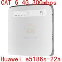 unlocked cat6 300Mbps Huawei e5186 E5186s 22a 4g LTE wireless router 4g wifi dongle Mobile hotspot 4g 3g cpe car pk E5172 b890