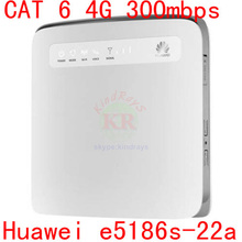 unlocked cat6 300Mbps Huawei e5186 E5186s-22a 4g LTE wireless router 4g wifi dongle Mobile hotspot 4g 3g cpe car pk E5172 b890