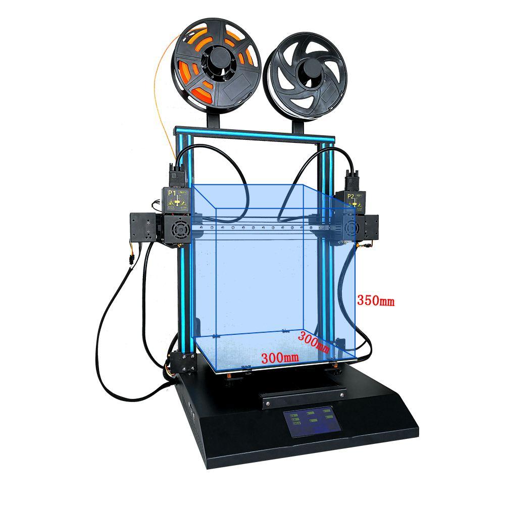 Imprimante 3D CR-X double couleur en option 4.3 pouces écran tactile TL-D3 imprimante 3D deux ventilateur de refroidissement 300*300*400 MM imprimante 3D