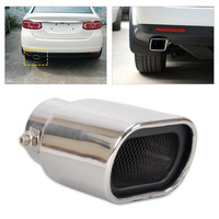Stainless Steel Straight Tailpipe Exhaust Tail Rear Muffler Tip Pipe End Diameter 32mm To 56mm For
