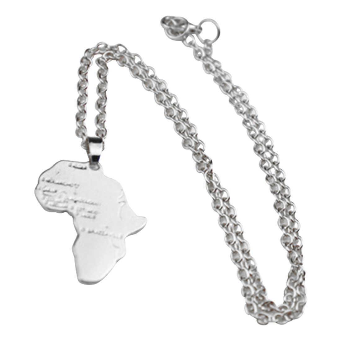 מכירה לוהטת מעודן היפ הופ סגנון אפריקאי מפת שרשרת אופנה אפריקאי קסם תכשיטי נשים/גברים מתנה טרנדי זהב כסף