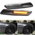 2x LED Para E81 E82 E87 E88 E90 E91 E92 E60 E61 Lámpara de señal de Vuelta LED Luz de Marcador Lateral para BMW Fender car-styling auto accesorio