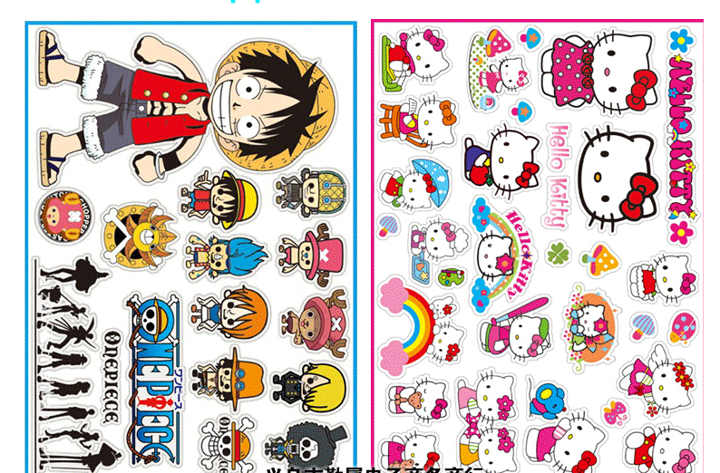 100 Packs Kawaii Cute Drawing Market Planner Paper Diary Deco Stickers PVC  Transparent Scrapbooking Luggage stickers,in Memo Pads from Office \u0026 School