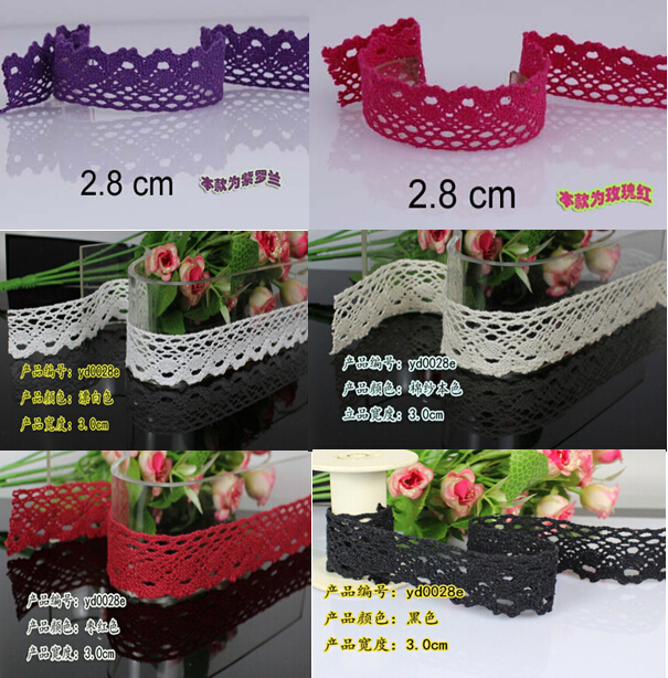 2 8 3 0 cm 6 colors cotton lace trim manufactory knitting lace for gift decoration
