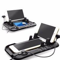 2 in 1 Yumuşak Silikon Manyetik Adsorpsiyon Telefonu Standı Araç Şarj Tutucu Braketi iPhone Samsung Cep Telefonları Için Şarj