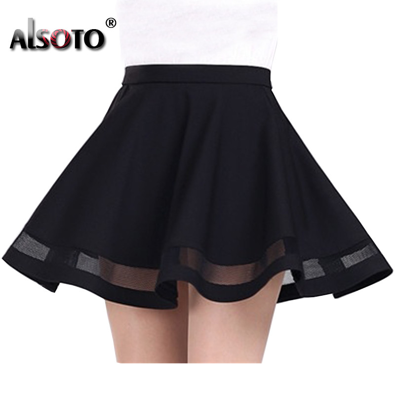 2019 Summer Women Skirt Fashion Elastic Faldas Ladies Midi Skirt Sexy Girls Mini Pleated Skirts Saias Etek Jupe Korea Clothes