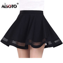 2019 Summer women skirt Fashion elastic faldas ladies midi skirt Sexy Girls mini Pleated skirts saias etek jupe Korea clothes(China)
