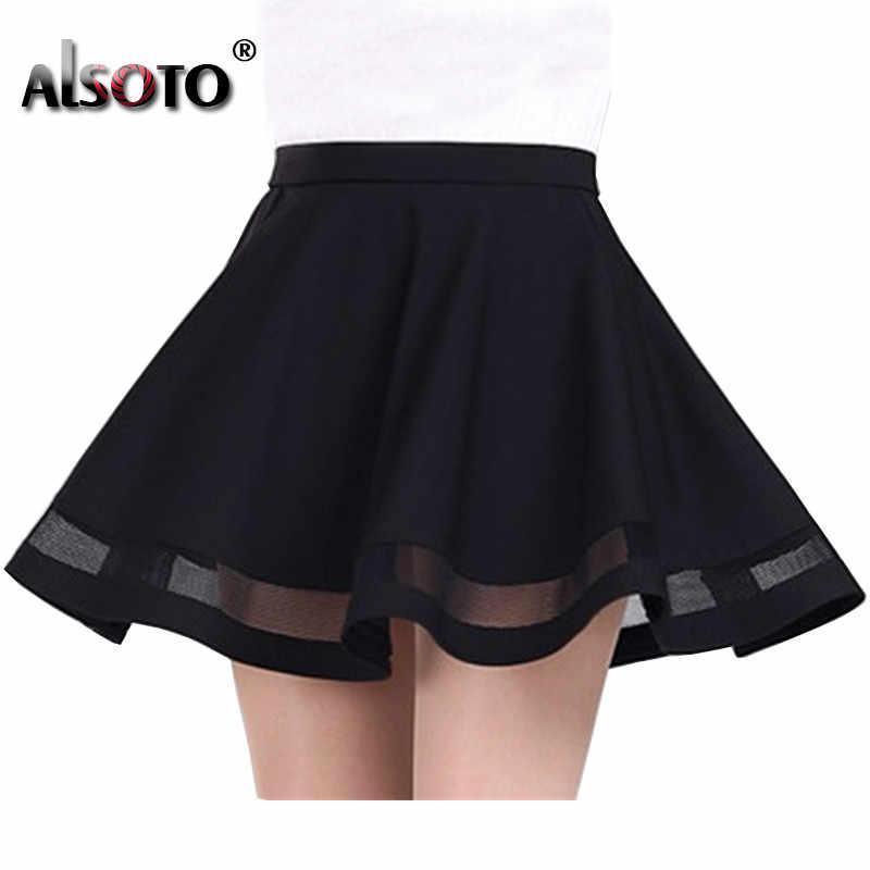 2019 Летняя женская юбка модная эластичная Женская пикантная юбка средней длины плиссированные мини-юбки для девочек saias etek jupe Корейская одежда