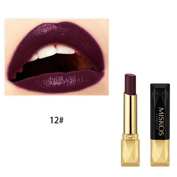 Beauty Matte Lipstick Long Lasting Cosmetics Maquiagem Women Makeup Red Batom Pigments Waterproof Lip Stick Pintalabios Mate 35