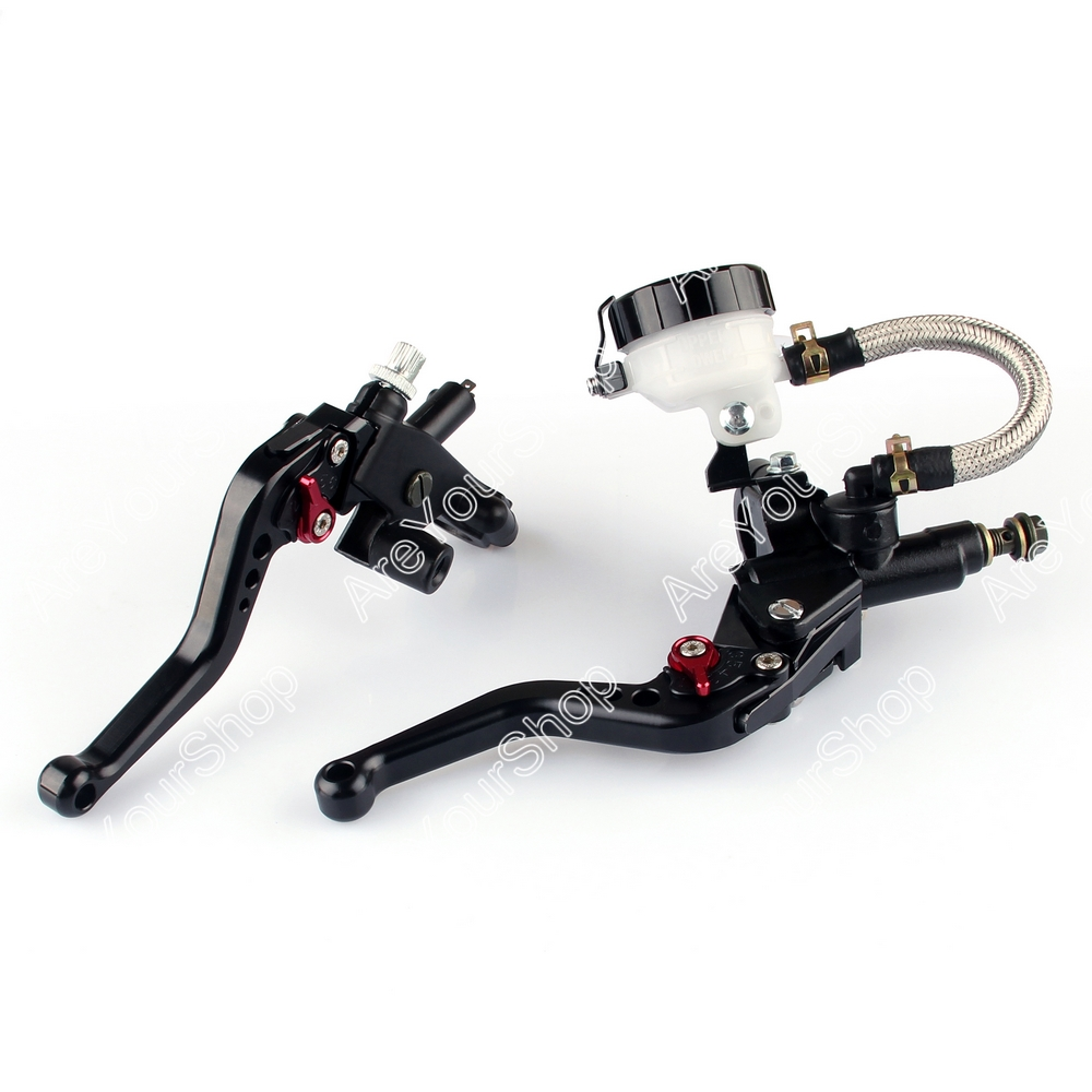 Areyourshop 7/8 Universal Front Master Cylinder Brake Clutch Levers For Sport Bike Street Bike Scooter Dirt Bike with 7/8 cnc universal motorcycle brake clutch lever master cylinder for sport bike street bike scooter dirt bike with 7 8 22mm