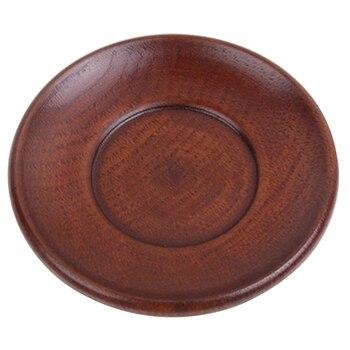 20 個ヴィンテージスタイル食器木製皿デザートプレートラウンド形状ボウルプレゼント高品質-ブラウン