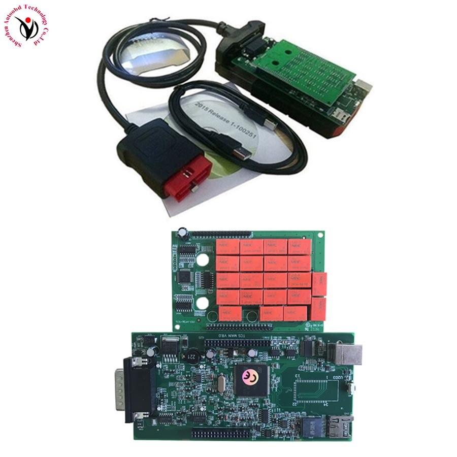Vci v3.0 PCB. R3 Keygen/. R0+ активировать Bluetooth TCS CDP pro obd2 OBDII OBD II Автосканер автомобилей/грузовиков - Цвет: original V8.0 NO BT