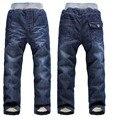 DK0079 Envío Libre 2016 nueva llegada de calidad superior muchachos gruesos pantalones de invierno cálido niños jeans pantalones de invierno cálido niños