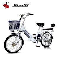 SONGI Portable Motorcycles 20''x 1.75''/ AC220V 50Hz 48V/2A Aluminum Alloy Electric Vehicle Electric Bike TDN219Z