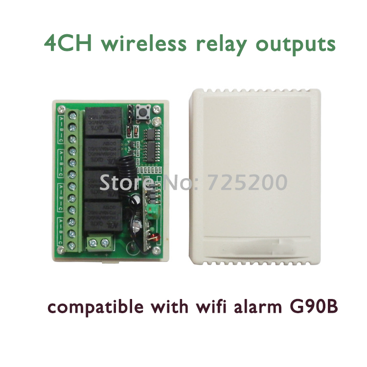 Wireless Relay output control home appliance for G90B WIFI GSM alarm Security GPRS Golden Security smart home alarm system wireless remote control power socket smart rf socket control power for home appliance compatible with g90b wifi gsm sms alarm