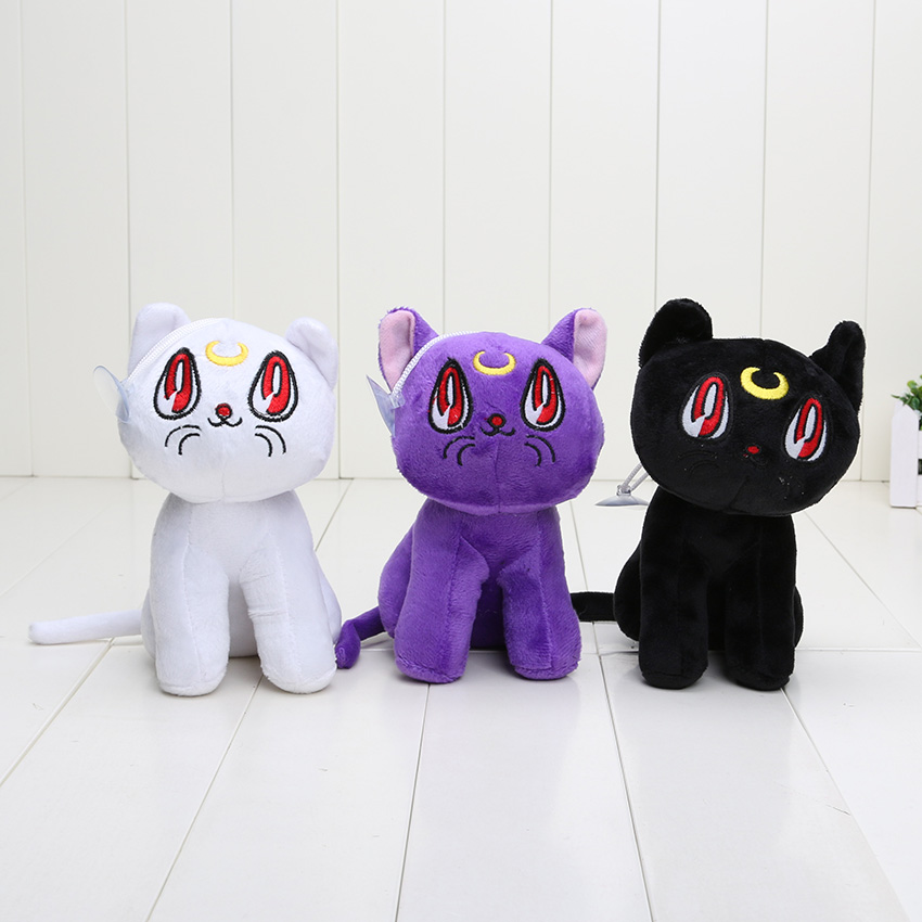 Online buy wholesale sailor moon plush from china sailor for Artemis decoration