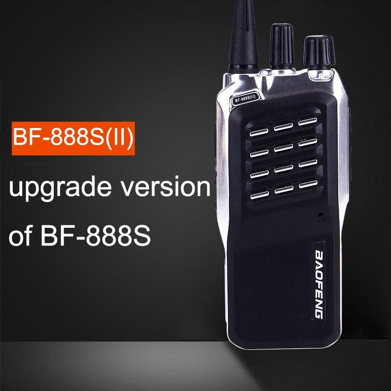 Baofeng BF-888S (II) 400-470 MHz UHF Mini Talkie Walkie Longue Distance Gamme Communication cb Deux-Radios bidirectionnelles Mise À Niveau De BF 888 S