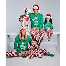 Семейный комплект рождественских пижам, Рождественская одежда для сна для взрослых, мужчин, женщин и детей, одежда для сна, новинка года, лидер продаж, Семейный комплект пижам