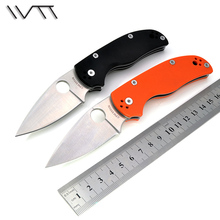 WTT C41 G10 Hunting Pocket Knife Folding Rescue Knife D2 Blade Utility Tactical Camping Tools Outdoor Combat Survival EDC Knives