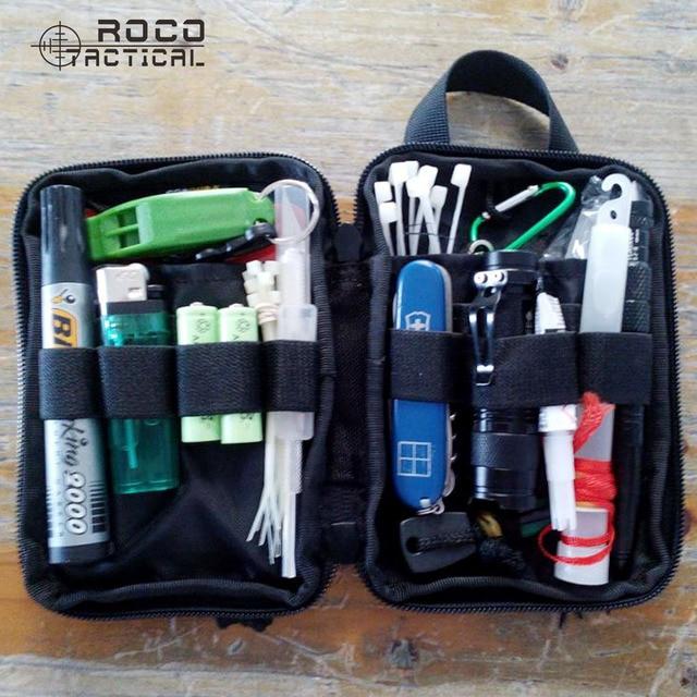 ROCOTACTICAL Militer Dompet Pocket EDC Saku Organizer Travel Militer Olahraga Militer Utilitas Kantong Ponsel Tas Cordura Nilon
