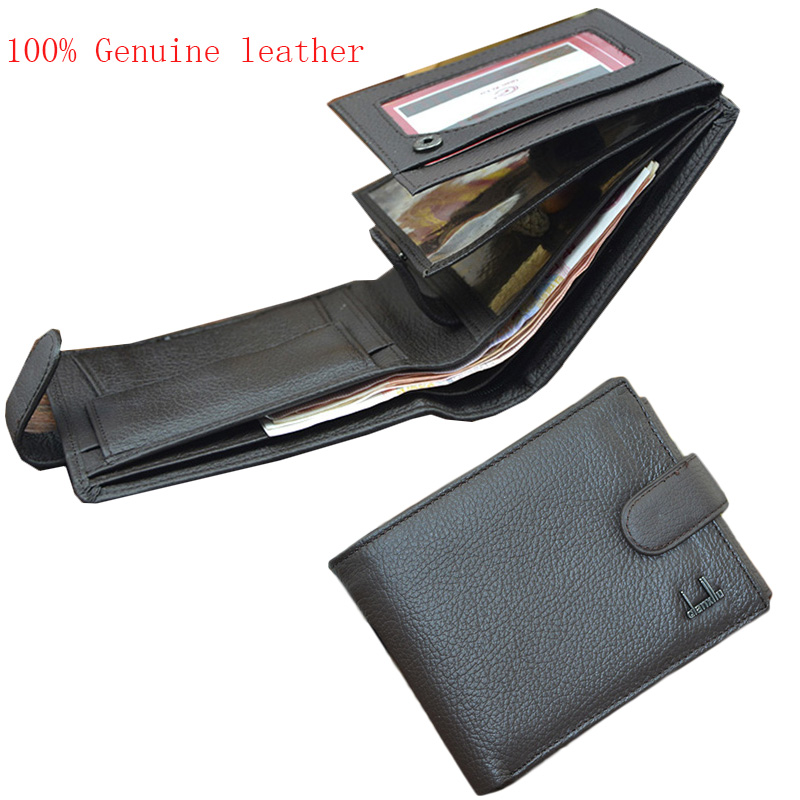ФОТО Brand DXL Men Genuine Leather Wallet Monederos Leather Coin Purse Wallet Trifold Male Card Holder Purse Leather  Pouch Wallet