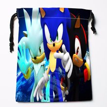 TF&25 New sonic the hedgehog #10 Custom Printed receive bag Bag Compression Type drawstring bags size 18X22cm &81#25(China)