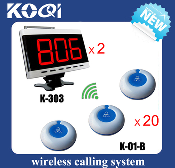 Nurse calling system for patient of 2 wireless receiver + 20 waterproof 100% Call Button O1