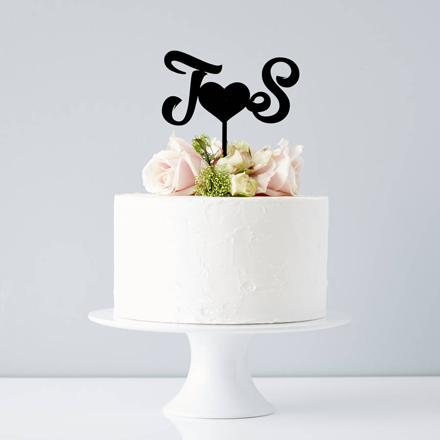 Wooden Original Personalised Monogram Wedding Cake Topper Bride Love Groom Acrylic Cake Topper Party Decorations