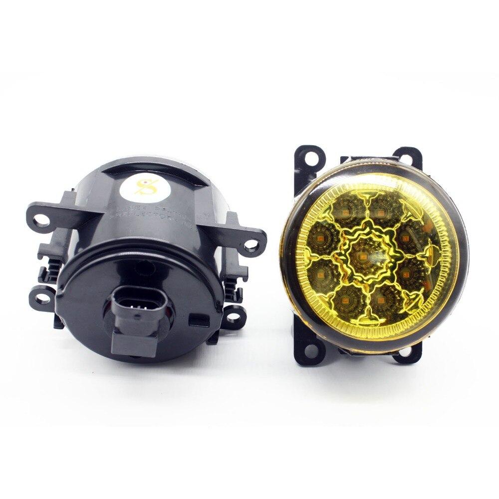 H11 жгута проводов розетки провода разъем переключатель + 2 Противотуманные фары DRL переднего бампера светодиодный лампы желтый для Holden Commodore ...