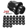 24PCs For Toyota/Lexus M12 x 1.5 CNC Mag Style Seat Lug Nuts Steel Wheel Replacement Part