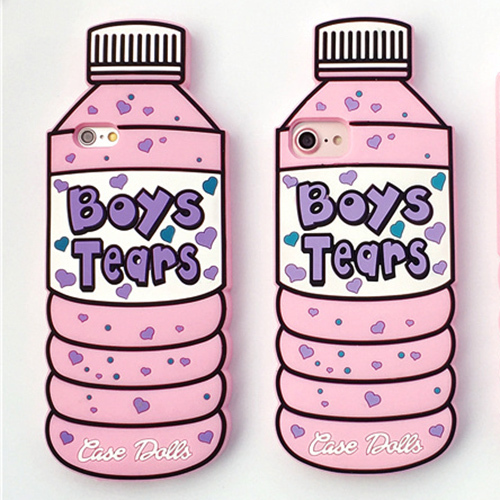 Sports Bottle Phone Case: Boys Tears Cute Bottle Silicon Phone Case For IPhone 5 5S