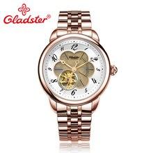 Gladster прозрачная задняя японская Miyota8N24 автоматические мужские часы из нержавеющей стали сапфировые хрустальные стекла