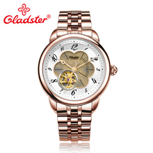 Gladster Japanese Miyota8N24 Hollow Automatic Men Watch Stainless Steel Uomo Mechanical Wristwatch Sapphire Crystal Male Clock
