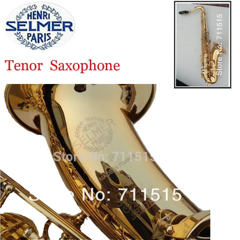 France Henri Selmer Tenor Saxophone musical instruments Profissional Gold Bb Sax Super Action R80 Series II Saxophone Mouthpiece tenor saxophone high quality selmer tenor sax bb 54 professional reference sax bronze musical instruments
