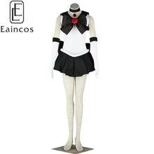 Anime Sailor Moon Sailor Pluto Negro Lucha Uniforme Cosplay Traje de la Navidad Del Vestido Por Encargo