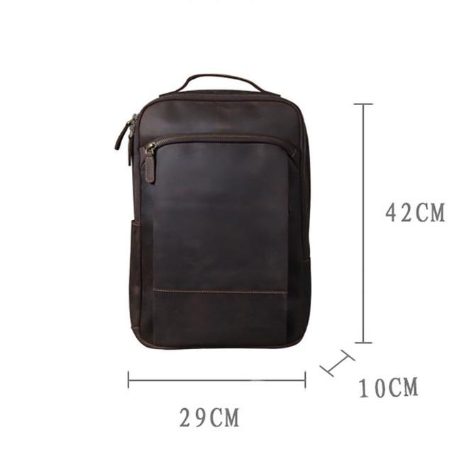 Modern Vintage Leather Backpack 5