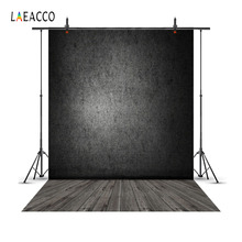 Laeacco Gradient Solid Wall Wooden Floor Portrait Photography Backgrounds Customized Photographic Backdrops For Photo Studio