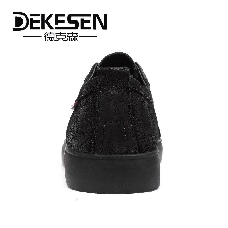 Moda 36 Zapatos Casual De Grande Hombres Plana Para Black Tamaño Sneakers Cuero Lujo Marca 46 Genuino Negro Calzado qPpBWgB