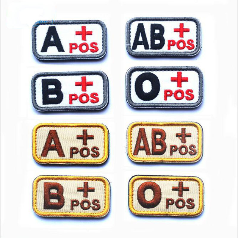3D Embroidery Badge Tactics / B / O / AB + Blood Type