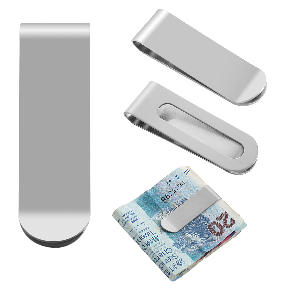 New Money Clip Stainless Steel ID Cash Card Holder Slim Wallet Dollar Sign 1PC