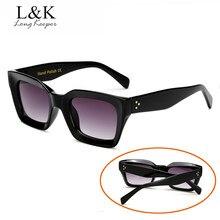 200525c7ac Long Keeper moda mujer Gafas de sol cuadrado Sol Gafas mujer espejo lente  verano estilo vintage grande negro Marcos Eyewear UV40.