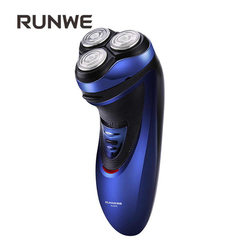 RUNWE Rechargeable Electric Razor For Men's Shaver 3D Floating Head Shaving machine with Pop-up Trimmer Rs958 Face Care Razor power 3d floating rotary washable men s electric beard shaver rechargeable travel electric razor with pop up trimmer wet and dry