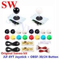 Sanwa original kit diy arcade parte zero dealy usb codificador para pc JLF-8YT sanwa joystick sanwa OBSF-30/24 botão para arcade mame
