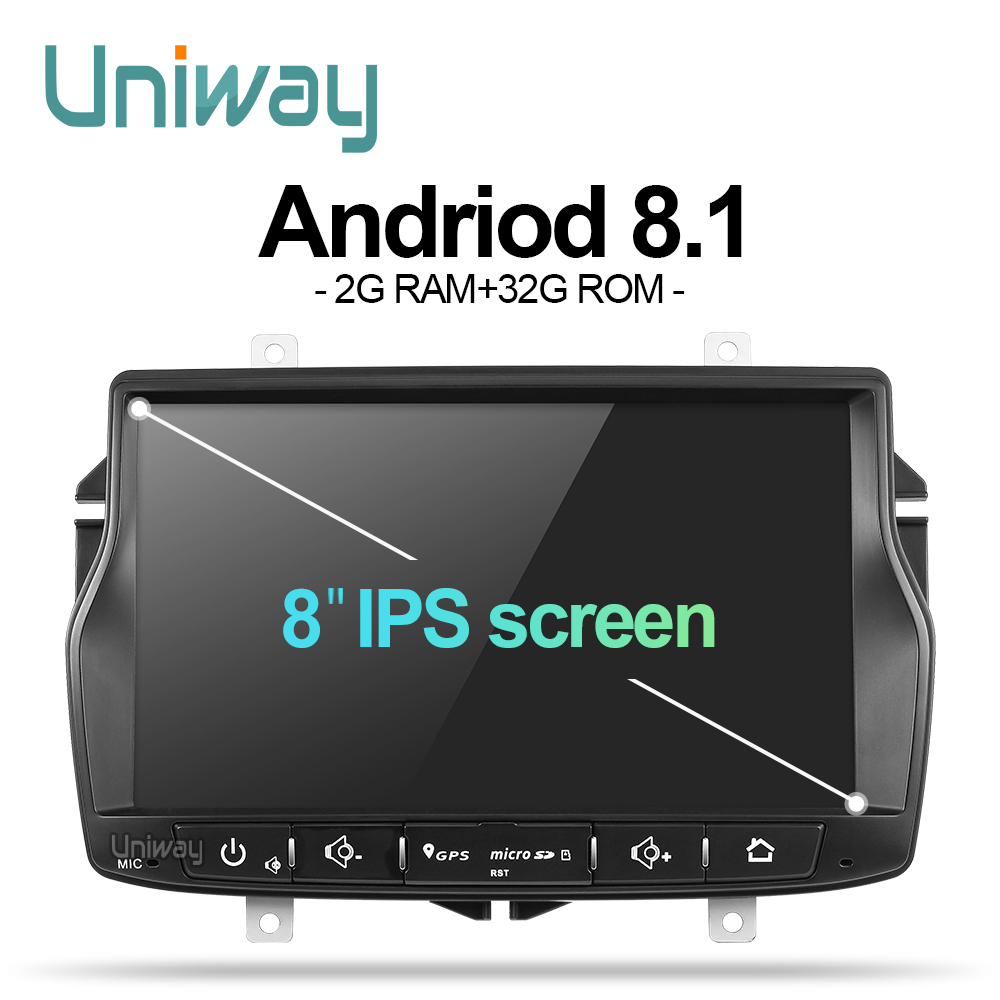 uniway ALD8071 android 8.1  car dvd for Lada Vesta with one din car radio gps navigation Audio multimedia IPS touch screen