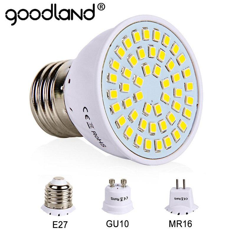E27 GU10 MR16 Led Bulb 220V 230V Led SpotLights SMD2835 Ampoule 48 60 80LEDs Lampara For Home Living Room Spot Light