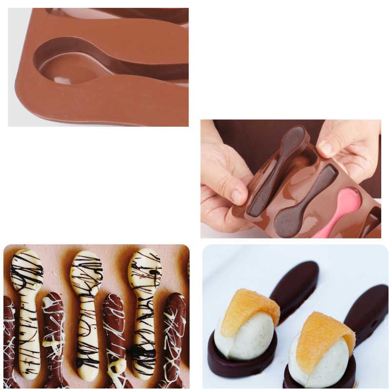 Delidge 1 قطعة ملعقة الشوكولاته قالب من السيليكون المواد الغذائية لتقوم بها بنفسك هلام/بودنغ الخبز أداة قالب الكعكة سهلة خلع القالب