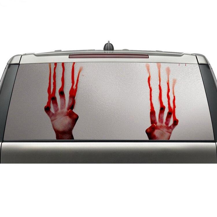 Aliexpress meilleurs produits de vente voiture fenêtre arrière graphique wrap vinyle autocollant adhésif amovible avec livraison gratuite
