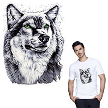 Wolf head patches heat transfer stickers for T-shirt bags iron on A-level patch applique badge DIY accessory sticker patches canada maple leaf iron on a level patches for diy t shirt bags accessory decoration applique badge sticker patches washable